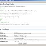 Admin DB Backup