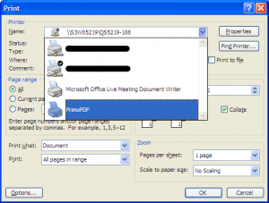 Select PrimoPDF as Printer