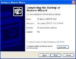 5. Summary of backup options.