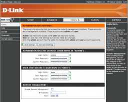 D-Link WBR-1310 - Change User ID and Password