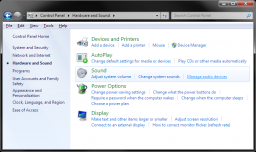 Windows 7 - Manage Audio Devices