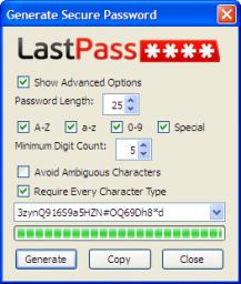 LastPass - Generate Secure Password Tool
