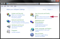 Windows 7 - Add or Remove User Accounts