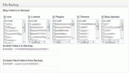 BackWPup - File Backup Options