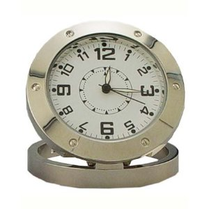 Chrome Clock Spy Camera