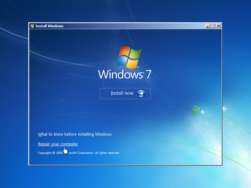 Repair and Recovery for Windows 7 If You Have No CD
