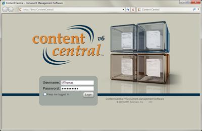 Ademero - Content Central Login