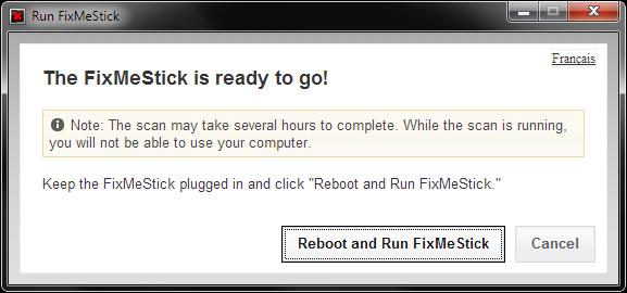 Running FixMeStick