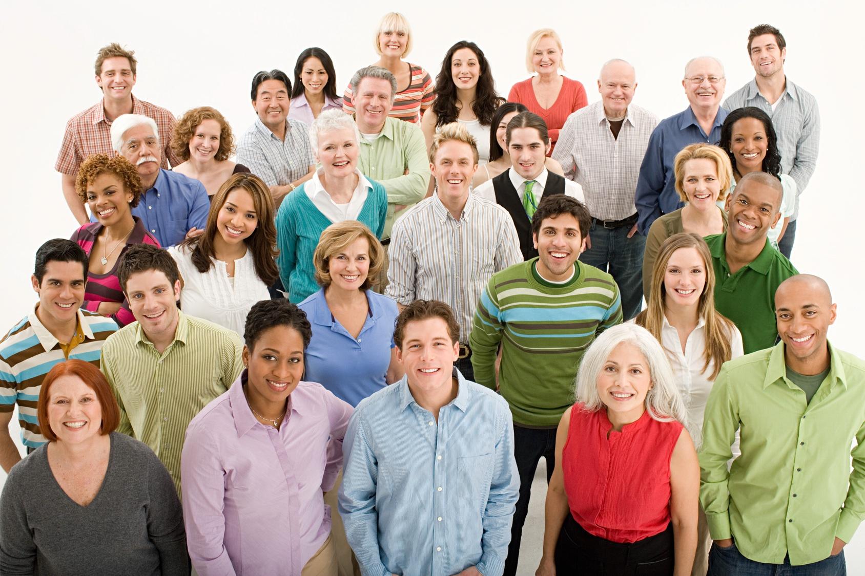 картинка много людей разного возраста одной
