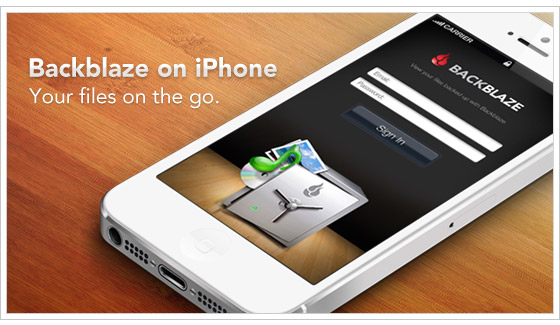 Backblaze Launches Mobile App for iPhone
