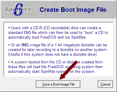 SpinRite - Save a Boot Image File