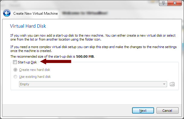 VirtualBox - Virtual Hard Disk