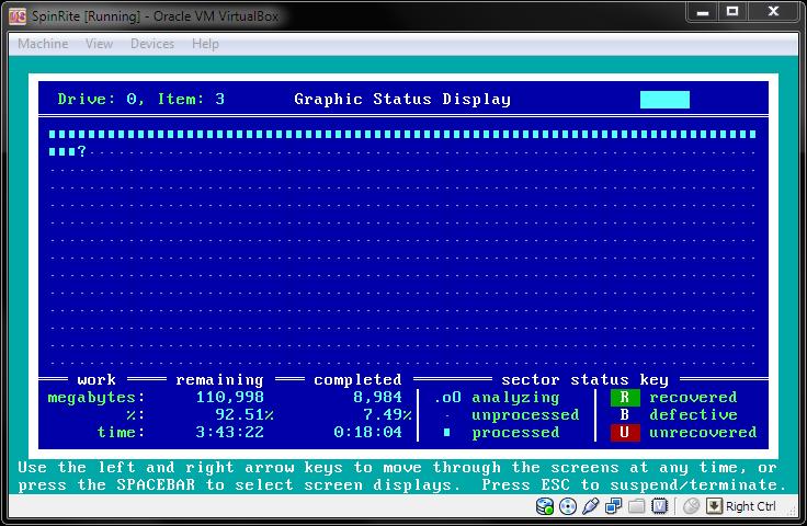 How to Run SpinRite in VirtualBox