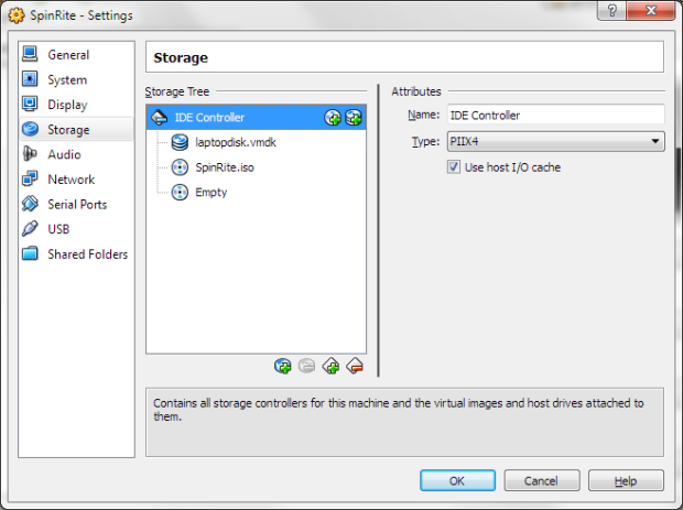 VirtualBox - After Adding Storage Devices