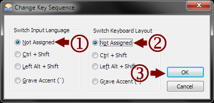 Change Key Sequence