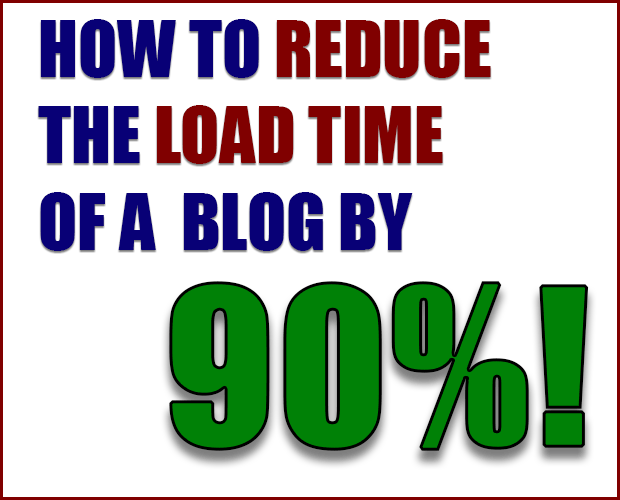 How to Reduce the Load Time of a Blog by 90%