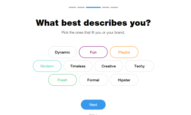 Wix - What Best Describes You?